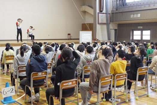 境港 渡小学校 ストレッチヒーロー 講演会