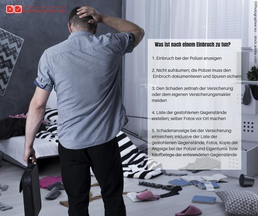 Einbruch! Was Du jetzt machen musst - Hausratversicherung Rüsselsheim