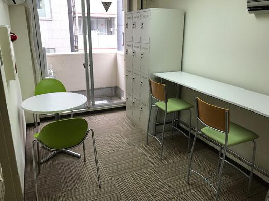 東京自習室CUBE ラウンジ休憩室