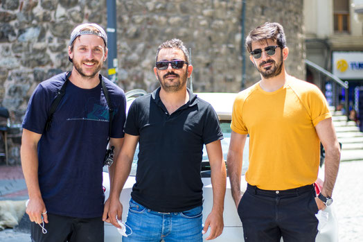 Bastian, Halil and Seyfi took us from Edirne to Istanbul