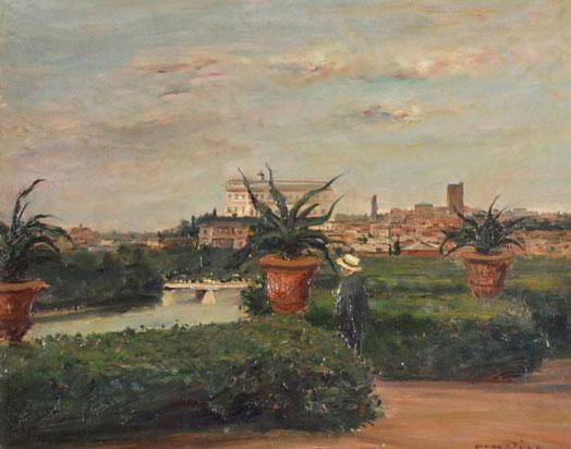 Blick auf den Tiber in Rom (1926) Fotos: Landesmuseum Mainz
