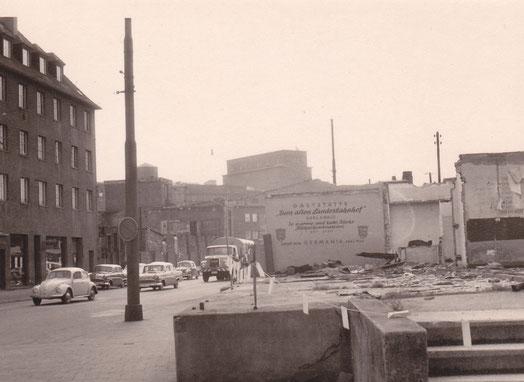 Das ehemalige Bahnhofsgelände