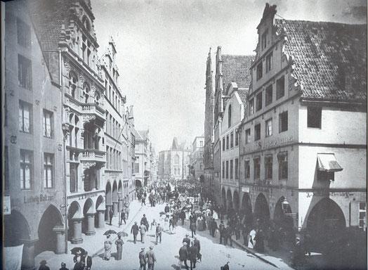 Der Prinzipalmarkt um 1885 - Sammlung Stoffers (Münsterländische Bank Thie - Stadtarchiv)