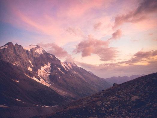 Alpenglühen im Lötschental