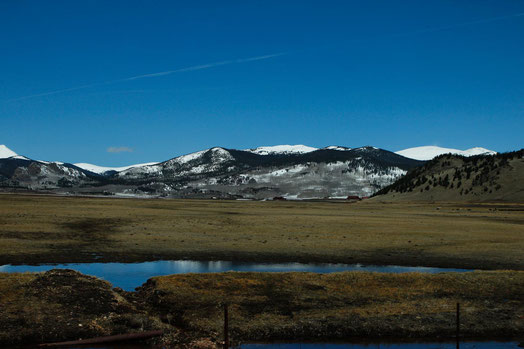 Landschaft Colorado, Schnee, Berge, lonelyroadlover, Reiseblog