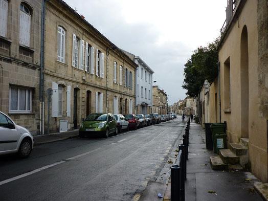 La rue Mazarin à Bordeaux où Forton habita toute sa vie.