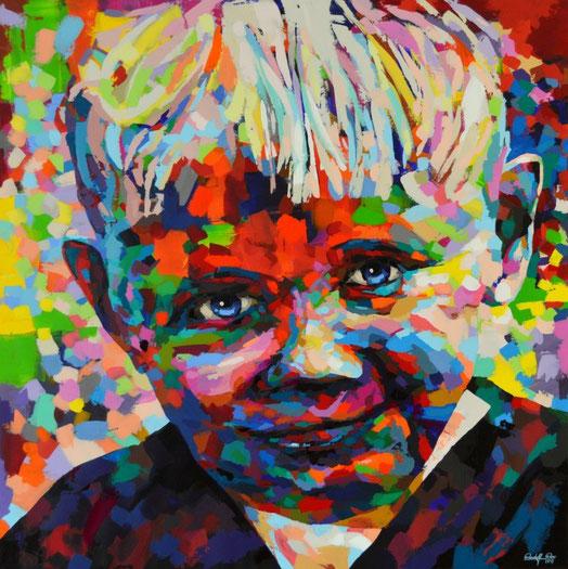 Selbstbildnis des Künstlers Rudolf Rox im Alter von ca. drei Jahren.