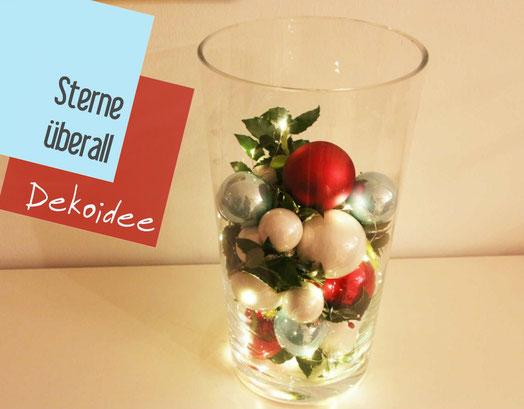 lichterkette, beleuchtetes Glas, weihnachtsbaumkugeln