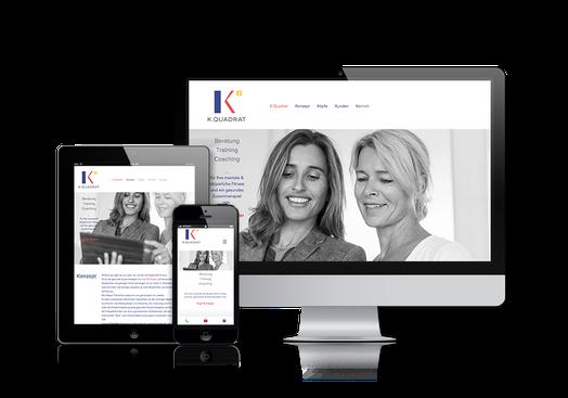 K.Quadrat Homepage in responsivem Design