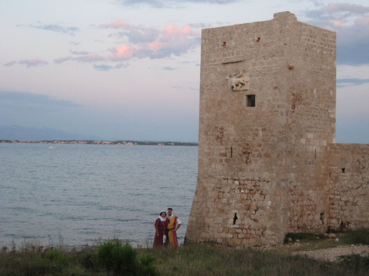 """Vor """"unserer"""" Kastelina (Burg) auf Vir"""