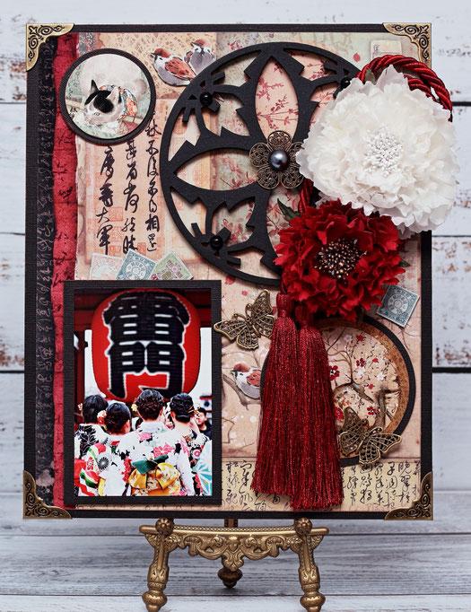 11/8銀座ソレイユ「新年飾り」七五三やお宮参り等、和の写真が合う作品のセミナーをしました。写真/Masako撮影 浅草で女の子たちの後ろ姿が可愛くて撮影したもの。