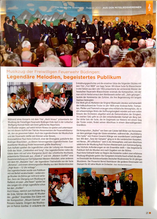 Die Hessische Blasmusik, August 2013