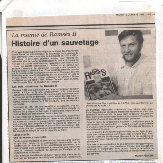 Dauphiné Libéré du 15 octobre 1965 - cliquer sur la photo pour l'agrandir.