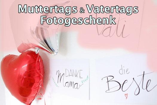 Richtig schöne Fotocollage für Muttertag & Vatertag selber machen. Tolles Fotogeschenk.