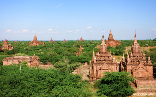 Tempellandschaft in Bagan