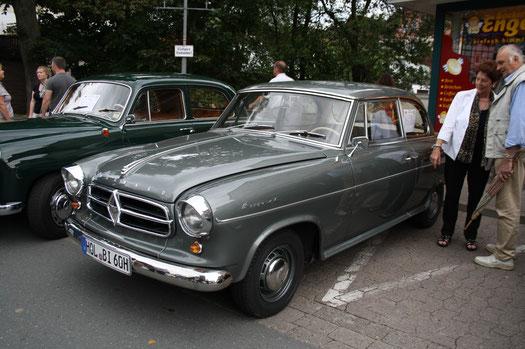 """Längst eine Legende: Die Borgward """"Isabella"""" Limousine, nach jahrelanger Arbeit erst vor Kurzem fertig geworden."""