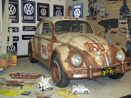 Herbie in Mexico. Der Originalkäfer, der in vier Filmen mitgespielt hat und in Mexico sogar einen Stiekampf siegreich durchstand.