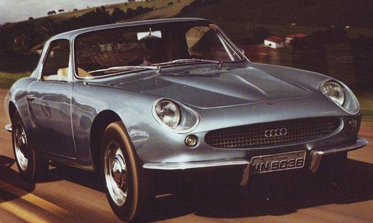 """Als Wrack erst kürzlich im brasilianischen Urwald entdeckt und frisch restauriert: Der """"Malzoni- DKW"""". Von diesem Fzg. gab es ca. 35 Stck. Das Exemplar im Audi Museum ist europaweit der einzige."""