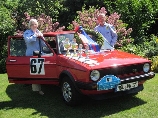 Klassensieg für Horst und Edith Bühl mit dem Golf 1 GTI