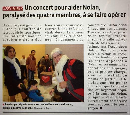 Concert d'accordéon pour Nolan