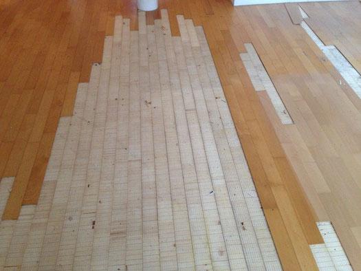 Deckblattablösung bei Zweischichtparkett