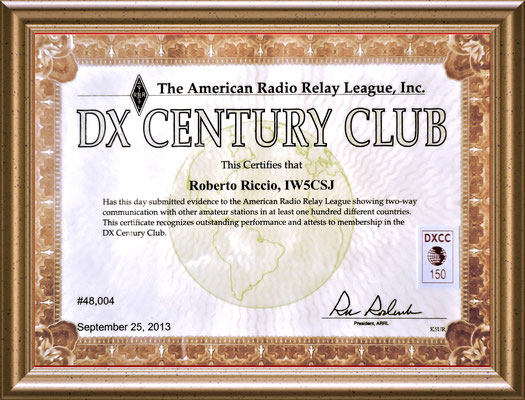 The ARRL DXCC Award is the pre-eminent operating award in all of amateur radio. The basic DXCC certificate is awarded for working and confirming at least 100 DXCC entities.