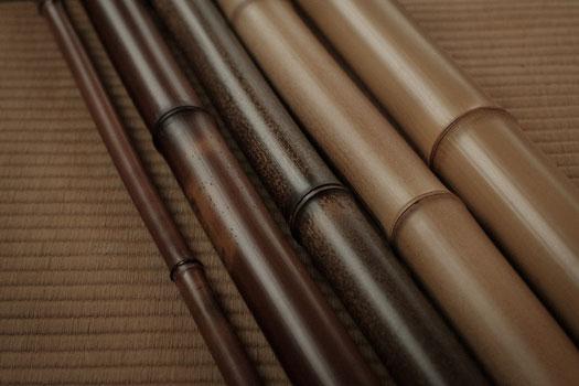 煤竹、黒竹、白竹など