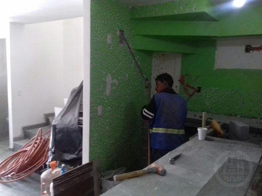 Construcción, mantenimiento, remodelación de cocina integral de concreto en casa habitación, León, Gto.