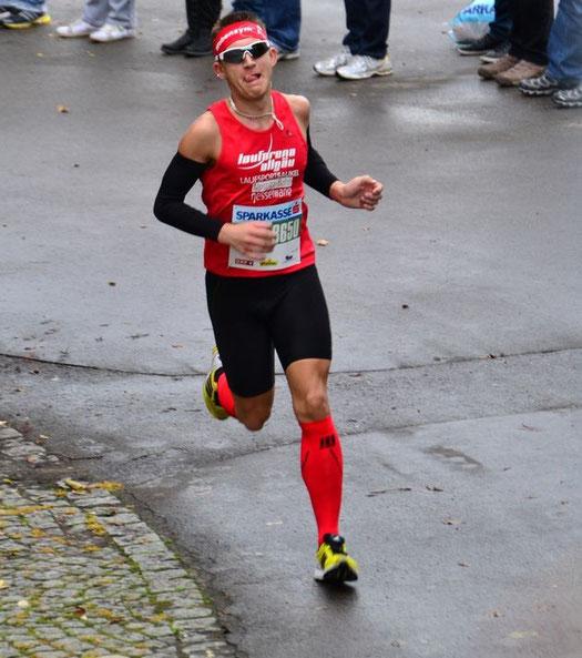 Steffen spielt Pacman in Lindau beim Viertelmarathon und läuft auf Gesamtrang 4
