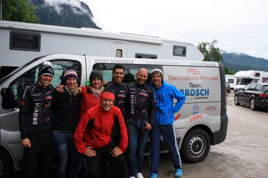 Betreuer bei der Craft Bike-Trans-Germany 2012 (Team RSC AUTO BROSCH KEMPTEN)