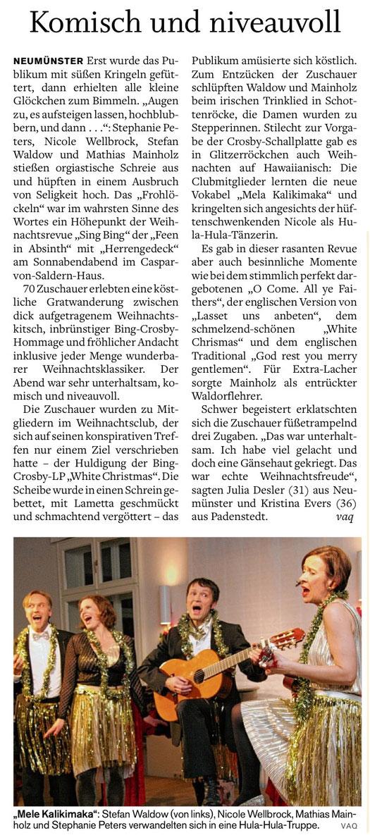 G. Vaquette, Holsteinischer Courier, 17.12.2012