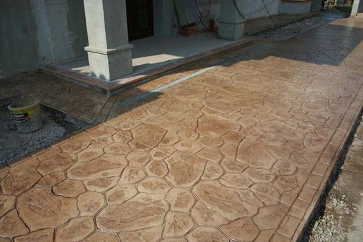 pavimento impreso piedra iregular