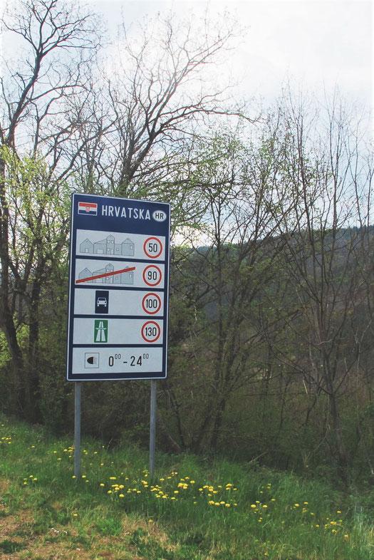 croatie bigousteppes panneau route