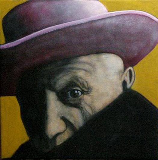 PICASSO - Acrylique sur canevas - 22x22