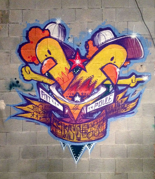 ELGATO - Pitt Poule hip-hop jazz manouche peinture graffiti streetart lamaise