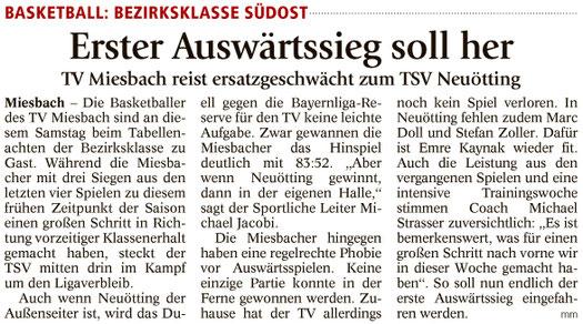 Artikel im Miesbacher Merkur am 4.2.2017 - Zum Vergrößern klicken