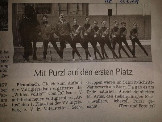 Moosburger Zeitung 25.04.2014