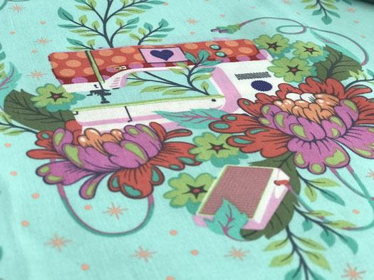 Tula Pink Homemade Stoffe Nähmaschine