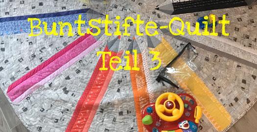 Patchwork Buntstifte Muster Quilt selber nähen