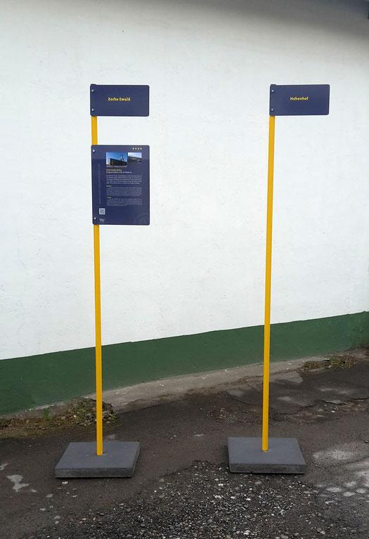Gestaltung und Herstellung von mobilen Fahnenmasten (Design: Boje als bombianders)