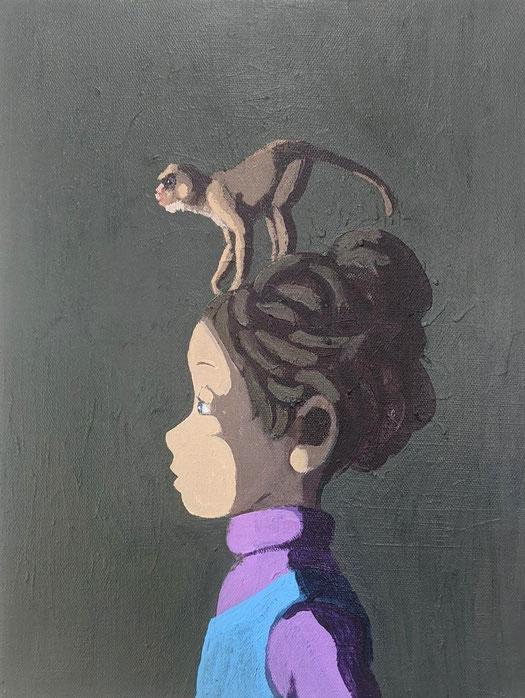 monkey - Acryl auf Leinwand, 40x30cm, 2020 | verkauft