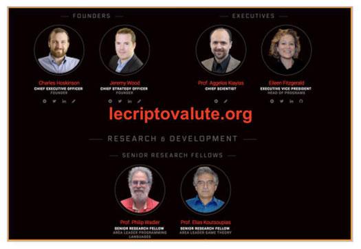 membri e fondatori cardano criptovaluta blockchain