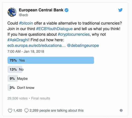 cosa pensa la banca europea sulle criptovalute