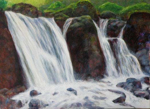 滝(たき)   油彩40P号
