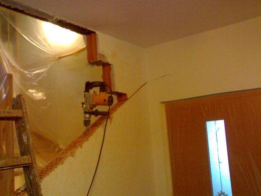 Treppenhaus beim Umbau 2
