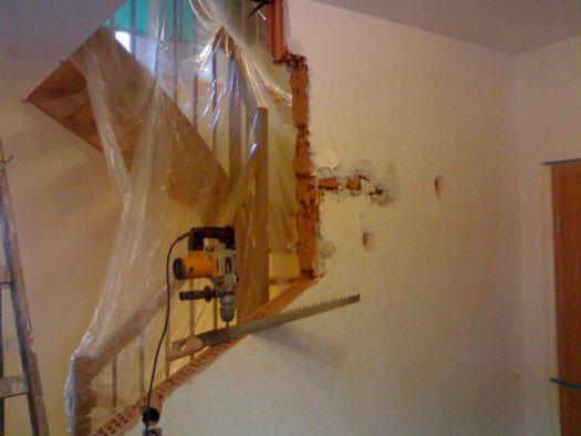 Treppenhaus beim Umbau 1