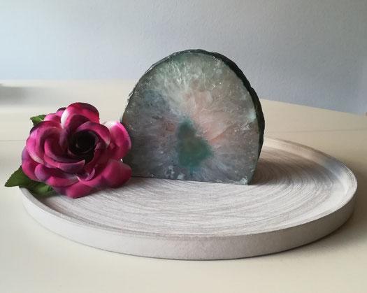 Kristall Steinurne mit Teelicht
