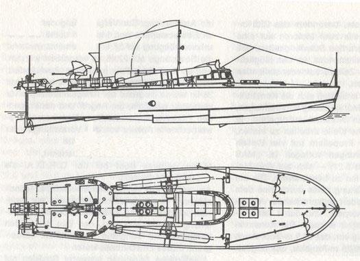 Bild aus H. Fock: Schnellboote Band 1 (SK 68)