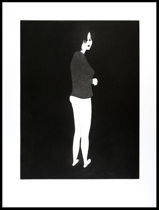 """Hubert Schmalix Edition """"Moon"""" 1996. Strichätzung und Aquatinta."""