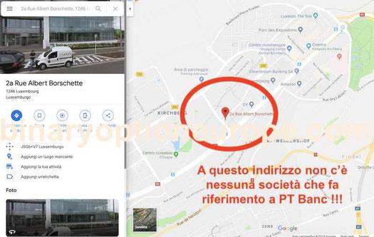pt banc lussemburgo indirizzo falso